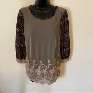 Gimmicks by BKE mesh top. Size small